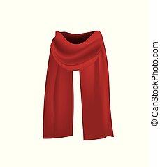 écharpe, fond, blanc rouge