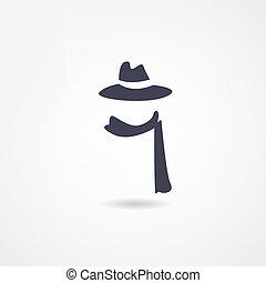 écharpe, icône