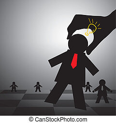 échecs, concepts, business