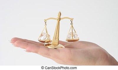 échelle, justice., symbole