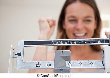 échelle, projection, perte, poids