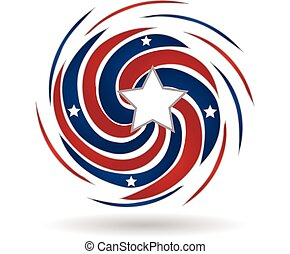 éclaboussure, drapeau américain, étoile, vague