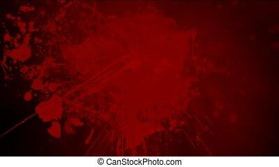 éclaboussure, encre, sanguine, arrière-plan rouge