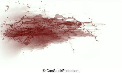 éclaboussure, plasma, sanguine, fluide, rouges, &