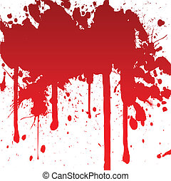 éclaboussure, sanglant