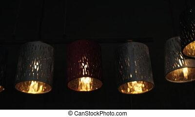 éclairage, lampes poche, barre, compteurs