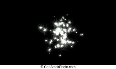 éclat, voler, pissenlits, étoiles