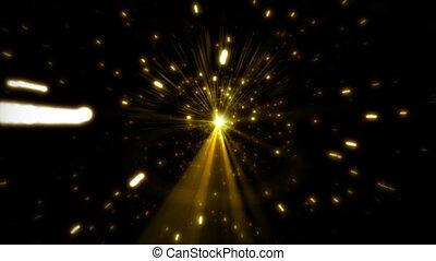 éclats (flares), étoile, noir