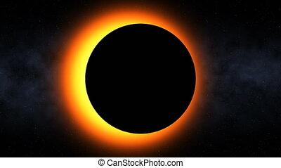 éclipse, ardent, solaire, (60fps)