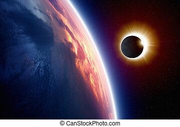 éclipse, soleil