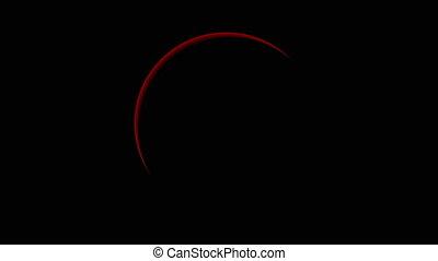 éclipse totale, rouges, solaire