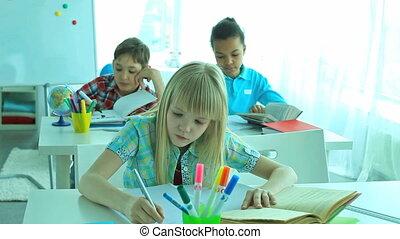 école, élèves