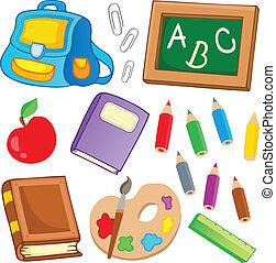 école, 2, dessins, collection