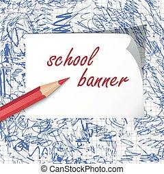 école, bannière