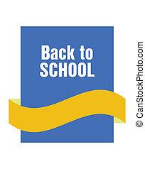 école, bannière, dos