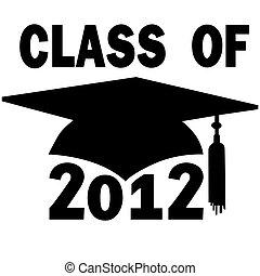 école, casquette, remise de diplomes, élevé, collège, classe, 2012