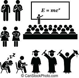 école, collège, étudiant université