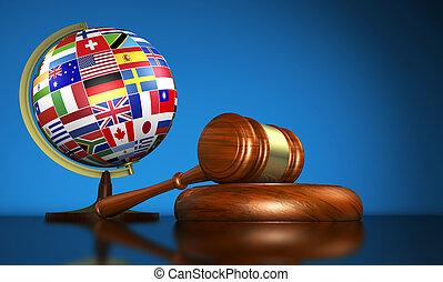 école, concept, droits, humain, droit international
