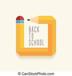 école, conception, dos, créatif