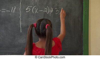 école, enfant femelle, sourire, education, enfants