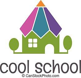 école, formulaire, illustration, vecteur, conceptuel, pencil.