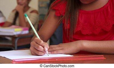 école, groupe, étudiants, admission, examen, essai