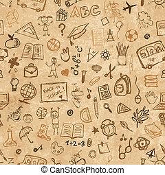 école, grunge, modèle, main, papier, conception, dessiné, ton