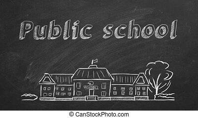 école, public