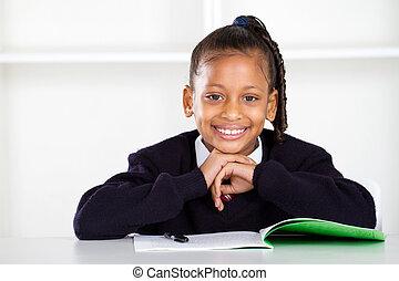 écolière, mignon, primaire