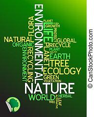 écologie, ambiant, -, affiche
