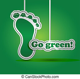 écologie, -, concept, vert, aller, carte