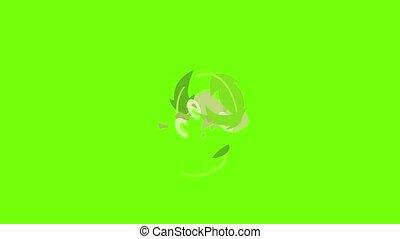 écologie, icône, animation