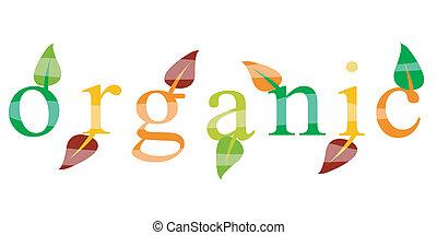 écologie, organique, icône