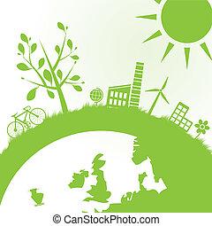 écologie, puissance, fond