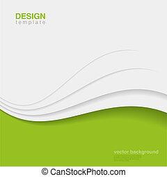 écologie, vector., eco, résumé, créatif, conception, fond
