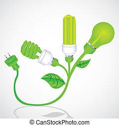 écologique, usine ampoule