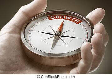 économie, accomplir, concept., business., mindset, croissance