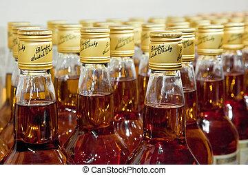 écossais, mélangé, bouteilles, whisky