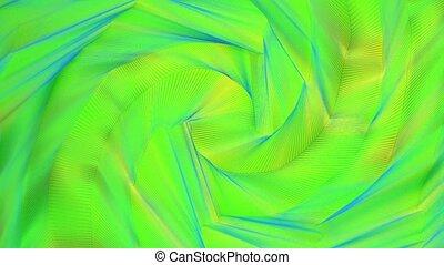 écoulement, résumé, arrière-plan bleu, jaune, couleurs, vert