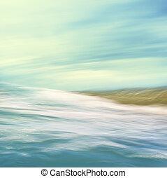 écoulement, résumé, mer