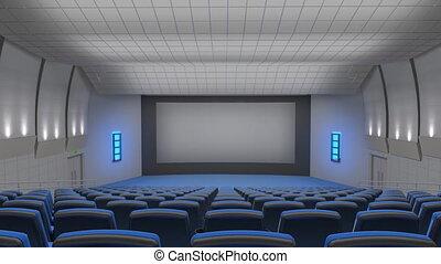 écran, auditorium, voler, cinéma