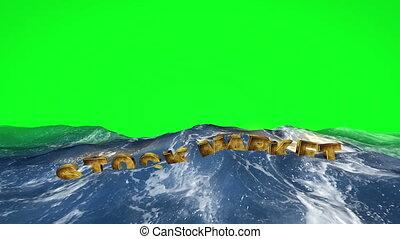 écran, eau, vert, marché flottant, stockage