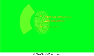 écran, empreintes digitales, vert, courant, balayage