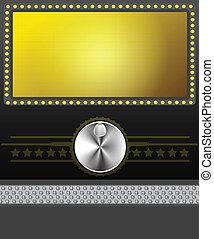 écran film, bannière, ou