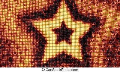 écran, forme étoile, boucle, numérique