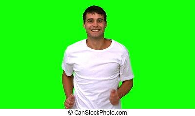 écran, jogging homme, vert