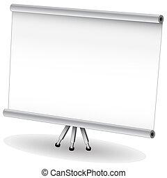 écran, présentation, projecteur