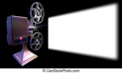 écran, projecteur, pellicule, spectacles