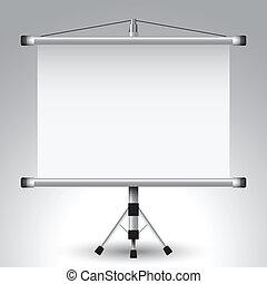écran, projecteur, rouleau