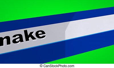 écran, recherche, vert, faisant argent, ligne